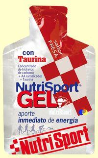 NUTRISPORT GEL FRESA TAURINA 40G.